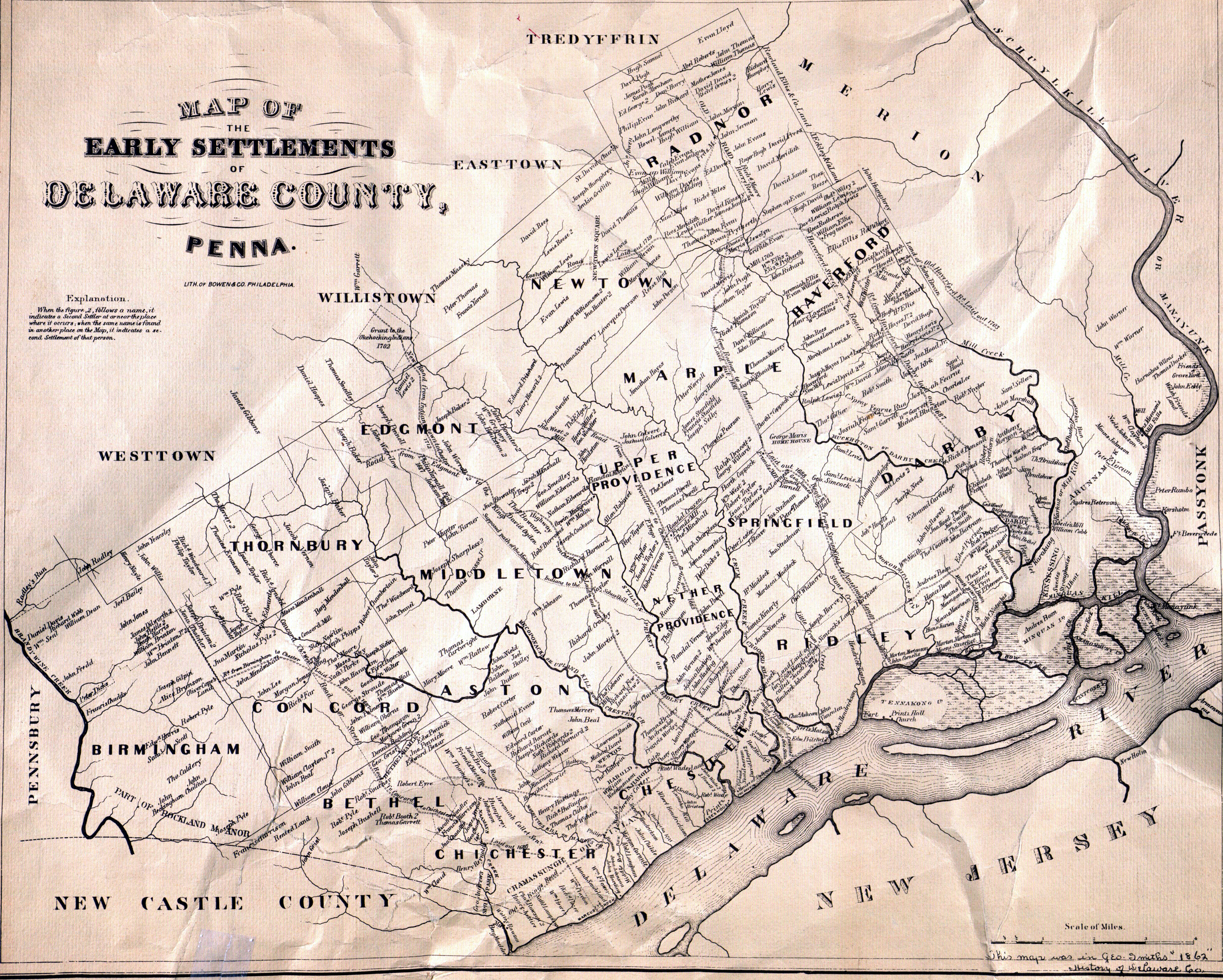 Welcome To Delaware County PA History - Pa map of counties